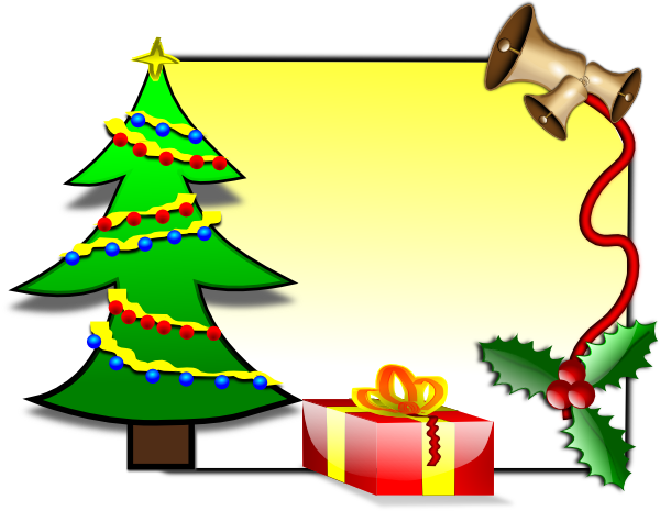 600x465 Christmas Card Template Clip Art