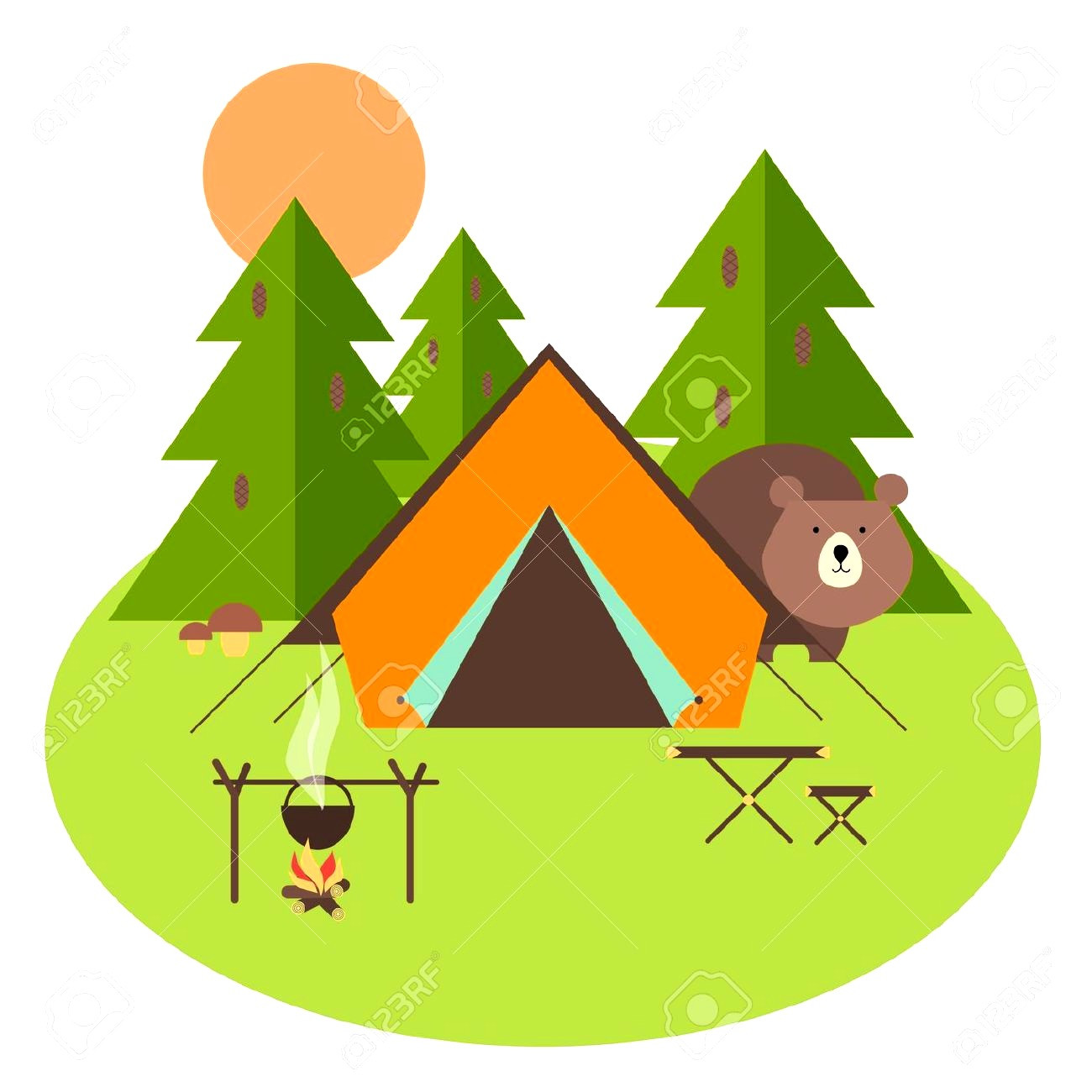 1300x1300 Climbing Fascinating Tent Clip Art Large Cute Camping Clipart Png
