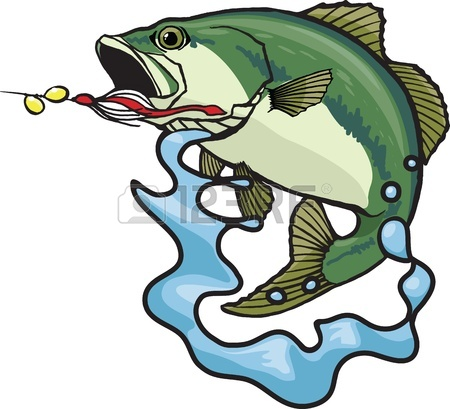 450x409 Bass Fish Clipart