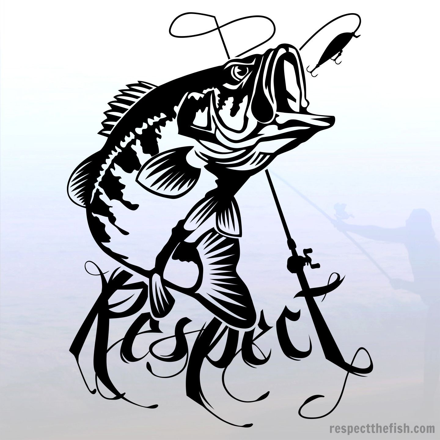 1440x1440 Largemouth Bass Fishing Window Sticker. Professional Grade Vinyl