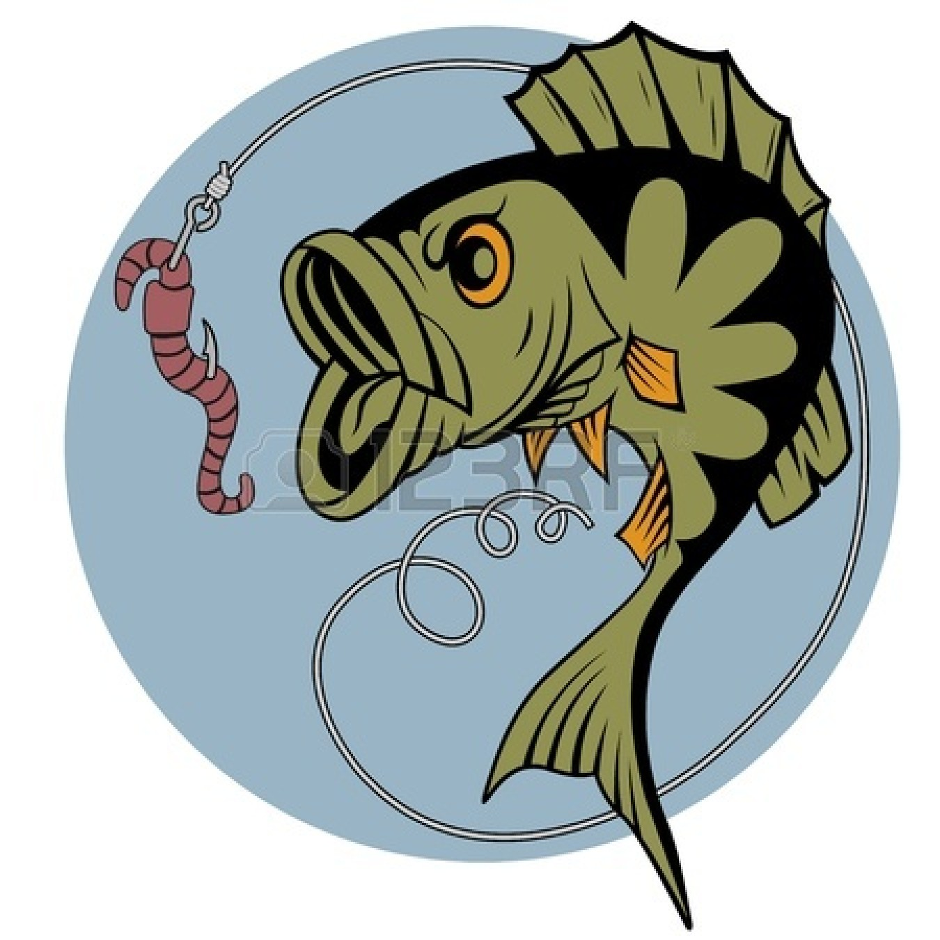 1350x1350 Bass Fishing Worm Clipart