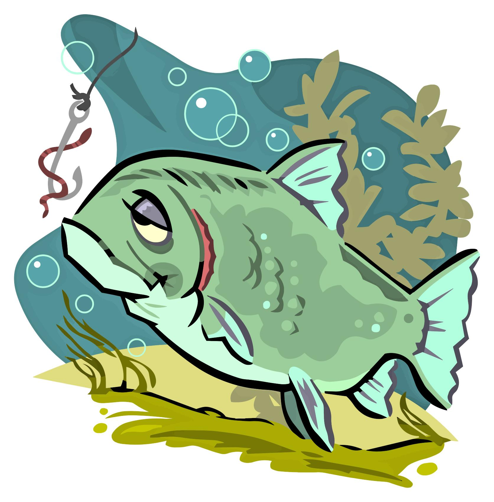 1672x1697 Cartoon Fish Clipart