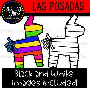 350x350 Las Posadas Clipart {Creative Clips Clipart} By Krista Wallden