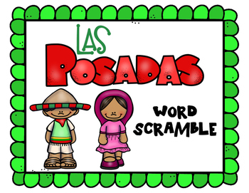 350x271 Las Posadas Word Scramble By Tn Teacher Teachers Pay Teachers