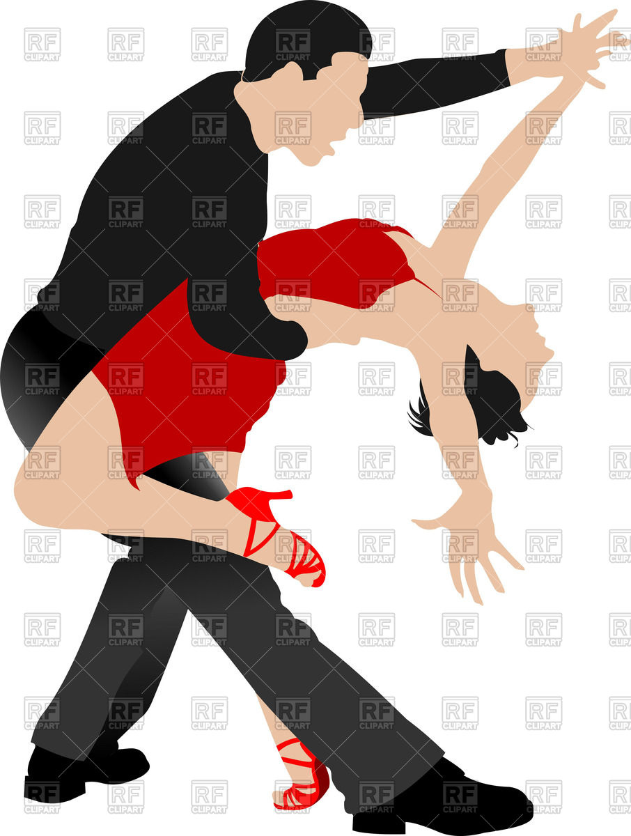 906x1200 Couple Of Tango Dancers Royalty Free Vector Clip Art Image