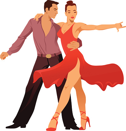 407x422 Latin Dancer Clipart