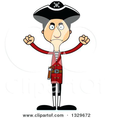 450x470 Hispanic Clip Art Of A Cartoon Angry Tall Skinny Man Pirate