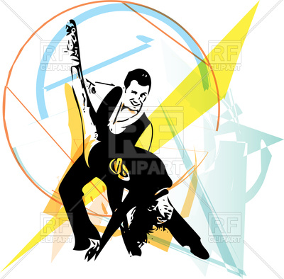 400x394 Latino Dancing Poster With Dancer Royalty Free Vector Clip Art