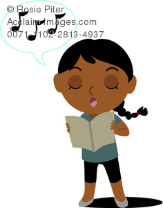 236x300 Clip Art Illustration Of A Reading Music And Singing Along