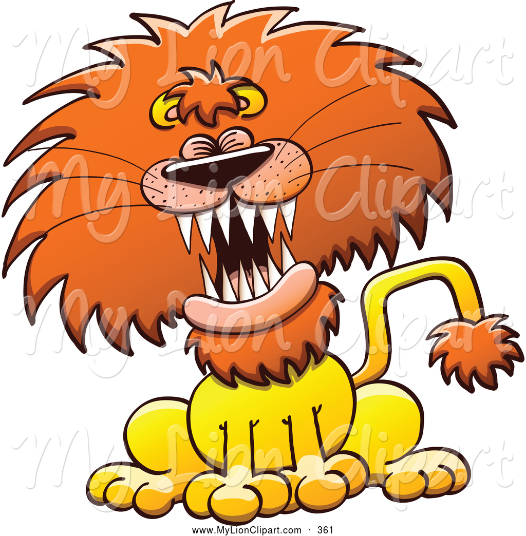 1024x1044 Clipart Of A Frightening Lion Laughing Or Roaring By Zooco