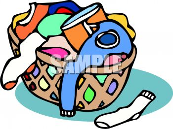 350x262 Royalty Free Clipart Image Basket Of Laundry