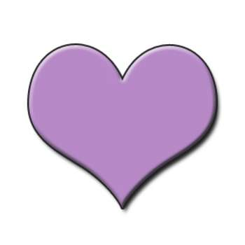 350x350 Free Low Resolution Clipart Graphic Of A Lavender Heart Valentine