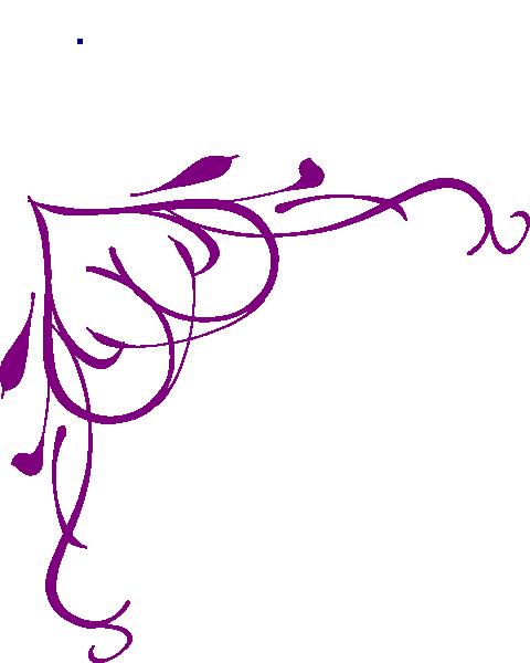 480x600 Lavender Flower Border Clipart