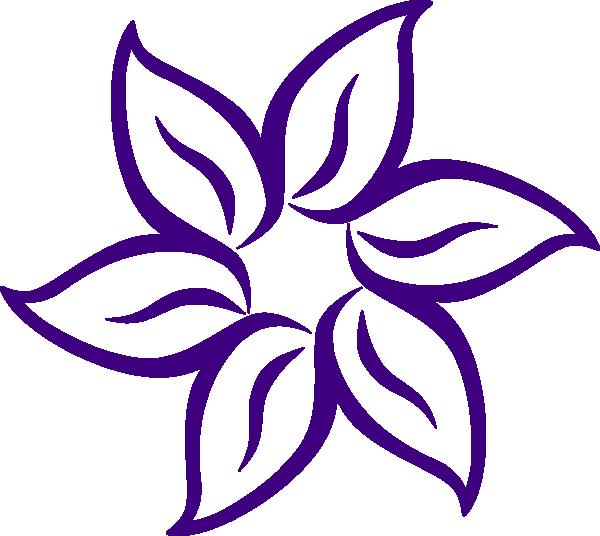 600x536 Purple Flower Border Clip Art Free Lavender Clipart My Style