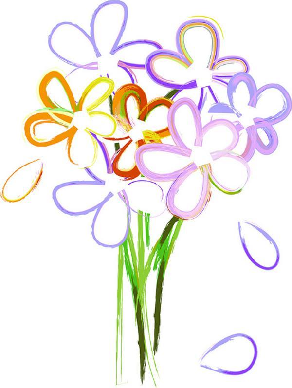 600x797 Bouquet Clipart Purple Bouquet 3092973
