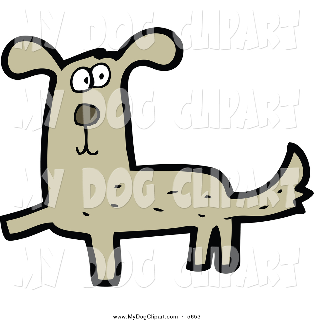 1024x1044 Clip Art Of A Brown Dog By Lineartestpilot
