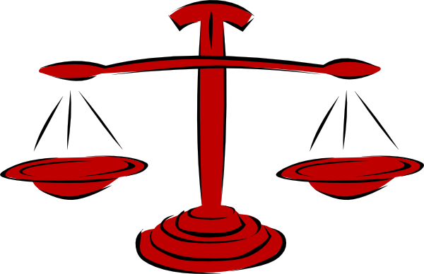 600x388 Red Legal Scales Clip Art