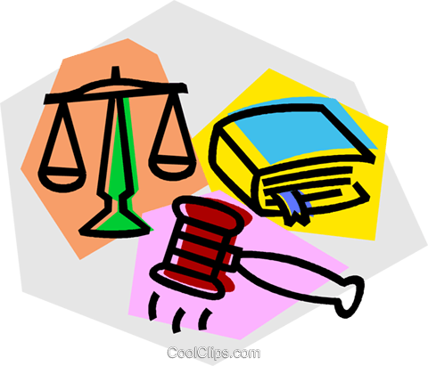 480x411 Gavel, Law Book, And Scales Of Justice Royalty Free Vector Clip
