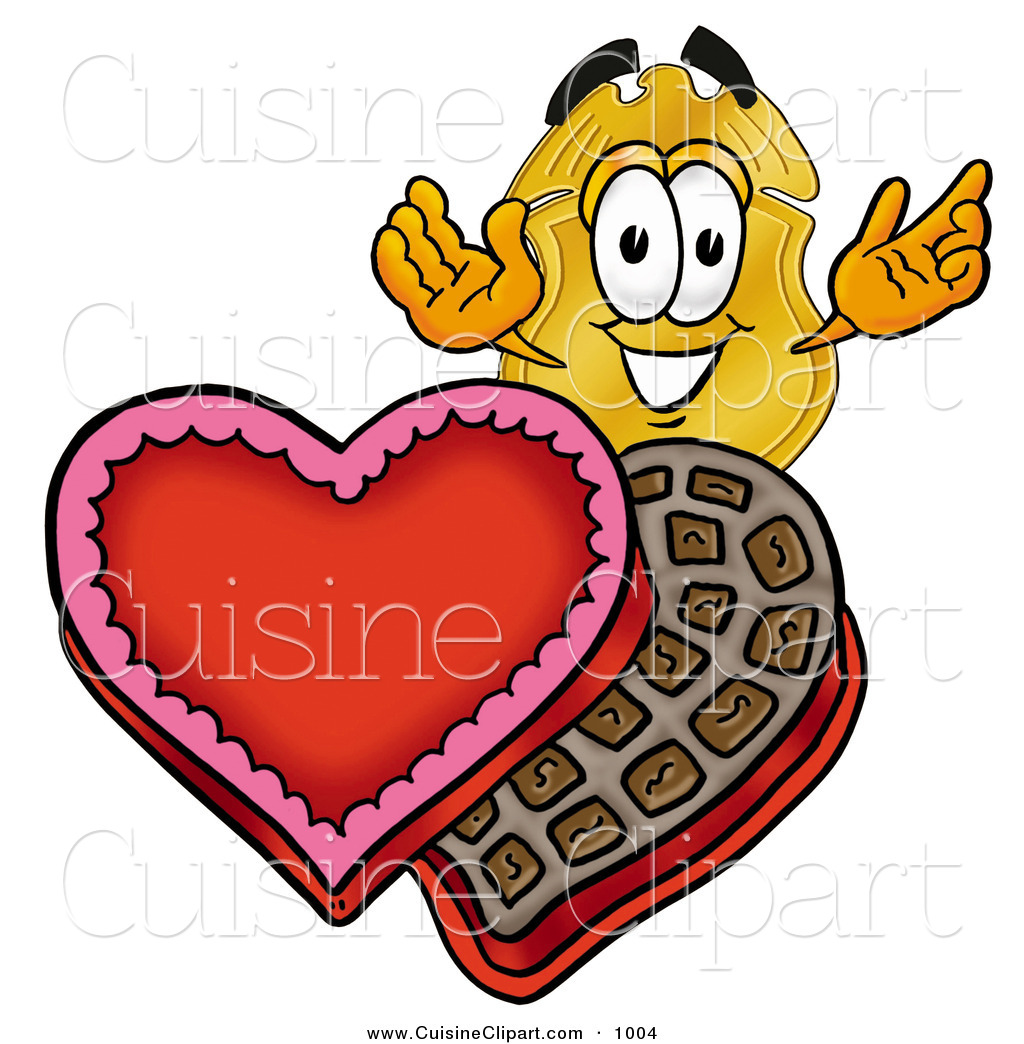 1024x1044 Cuisine Clipart Of A Gold Police Badge Mascot Cartoon Character
