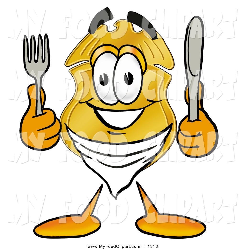 1024x1044 Food Cliprt Of Police Badge Mascot Cartoon Character Holding
