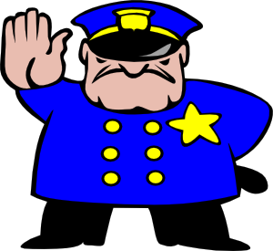 300x275 Police Man Clip Art