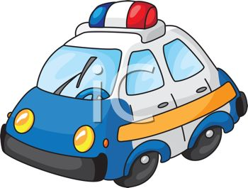 350x265 Cartoon Of A Toy Police Cruiser