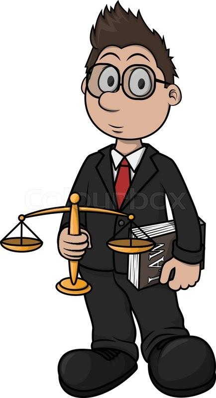 434x800 Lawyer Cartoon Illustration Design Stock Vector Colourbox