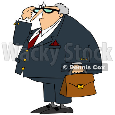 400x400 Royalty Free (Rf) Clip Art Illustration Of An Angry Male Attorney