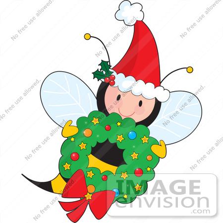 450x450 Bee Clipart Christmas