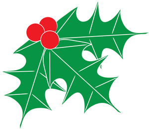 300x261 Free Holly Clip Art Image Clip Art Image Of Holly Leaves