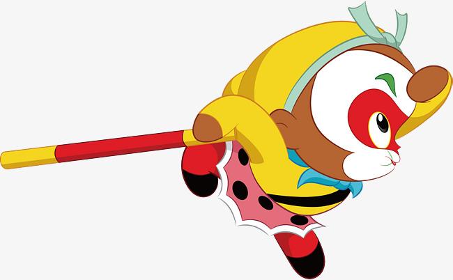 650x402 Leap The Cartoon Sun Wukong, Sun Wukong, Monkey King, Cartoon Png