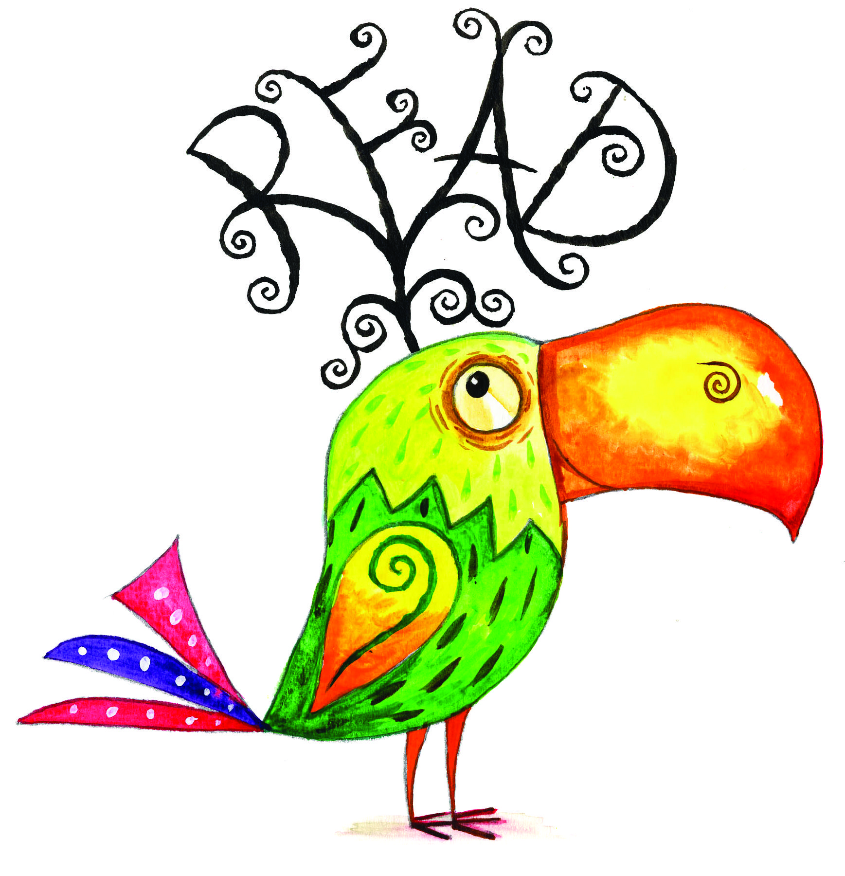 1737x1800 Library Clip Art Library Clip Art For Kids Parrot With Read.jpg