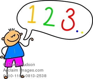 300x255 Clipart Image Of A Happy Little Boy Learning To Count