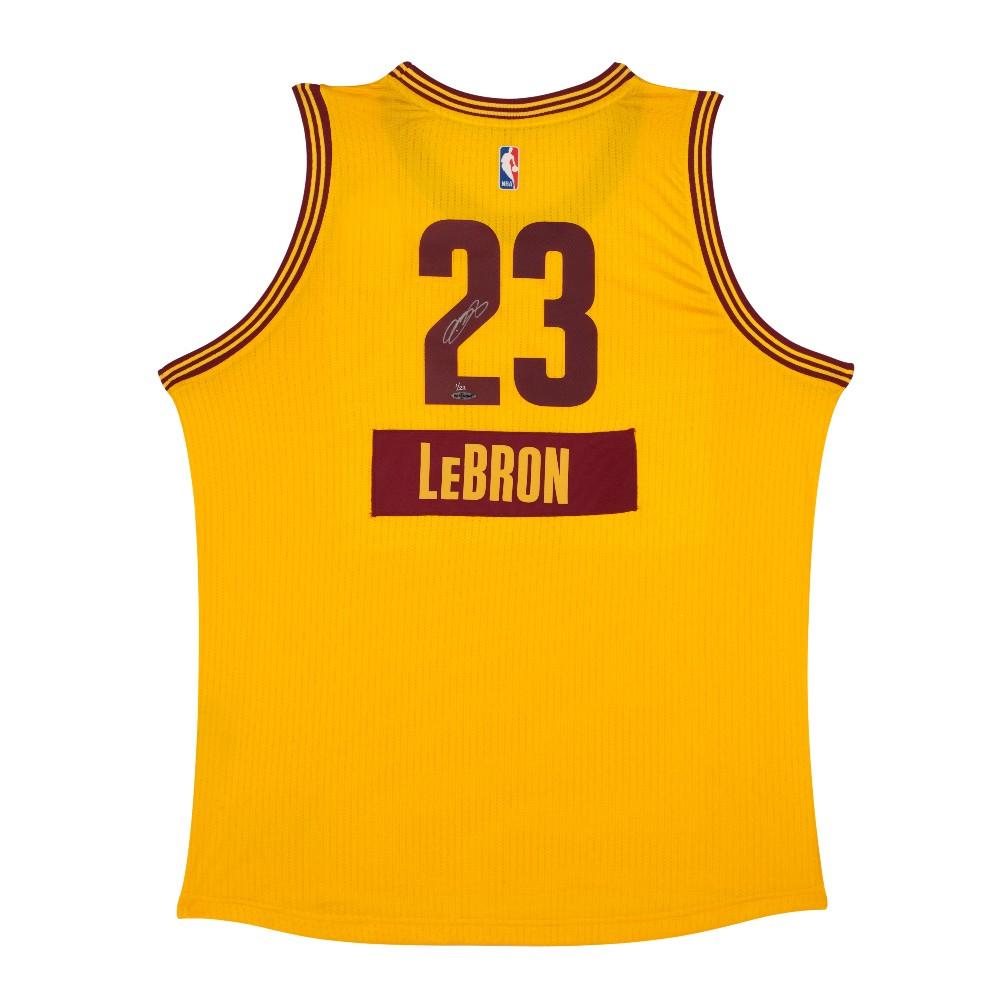 1000x1000 Lebron James Autographed Cleveland Cavaliers Swingman Christmas Jersey