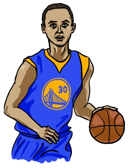 445x583 Steph Curry Clipart