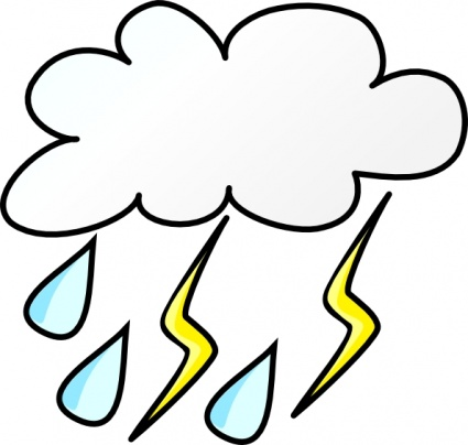 425x404 Thunderstorm Clipart Animated Rain Free Collection Download