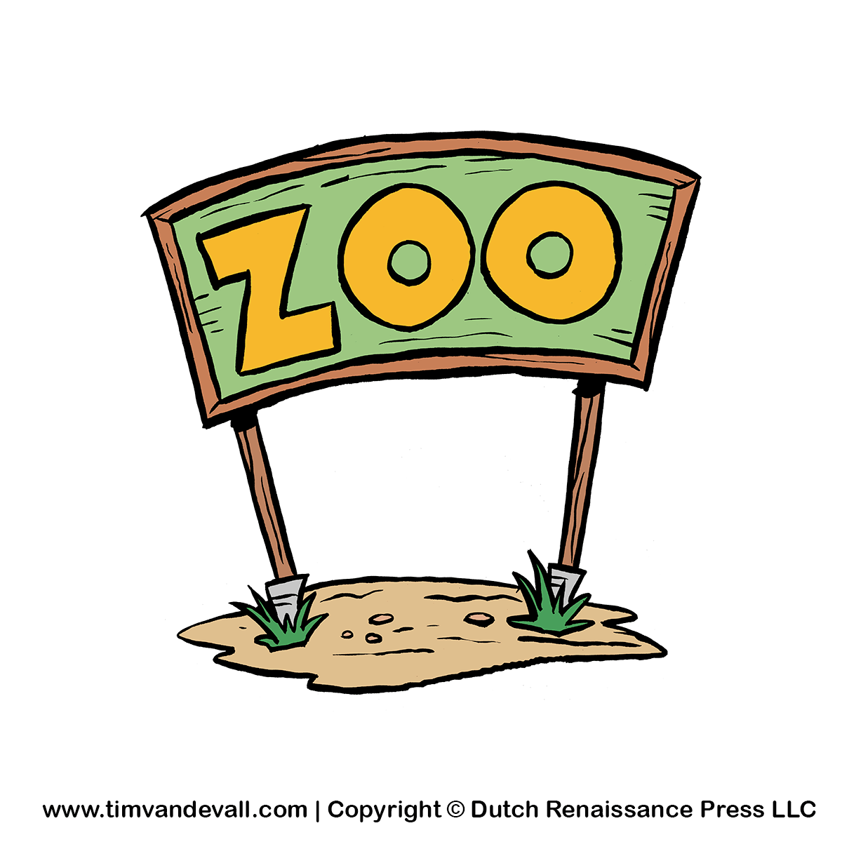 1200x1200 Zoo Sign Clip Art