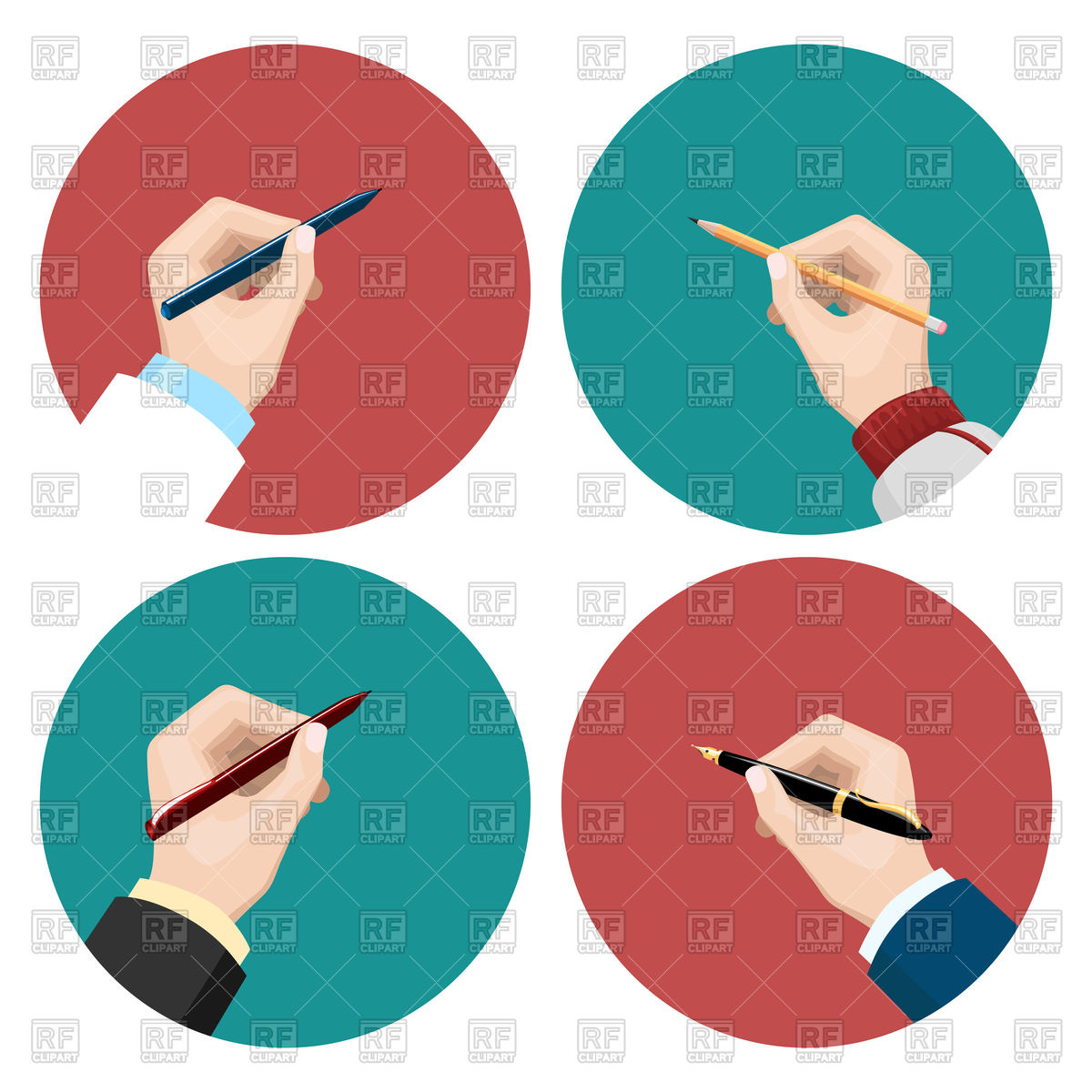 1200x1200 Icons With Writting Left Hand And Right Hand, Write Royalty Free