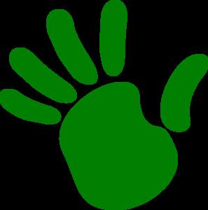 297x300 Left Hand Print Clip Art
