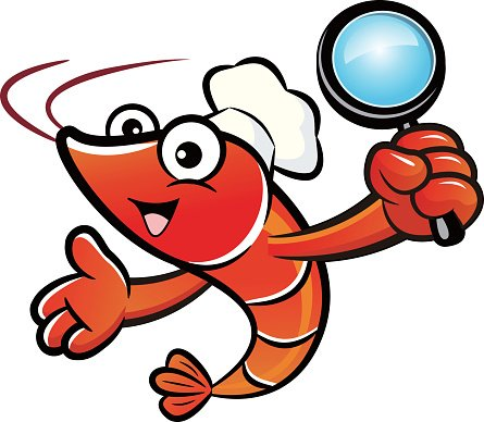 445x388 Shrimp Mascot The Right Hand Guides And The Left Hand Premium