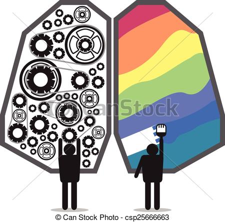 450x444 Brain Left Right Design Clip Art Vector