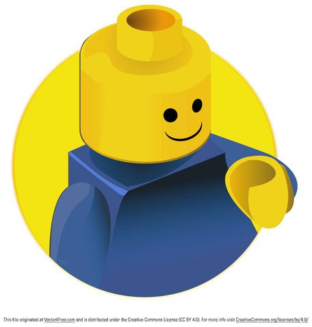 456x478 Free Lego Clipart And Vector Graphics