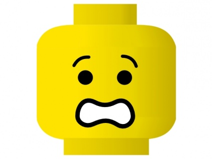 425x318 Free Download Of Lego Smiley Scared Clip Art Vector Graphic