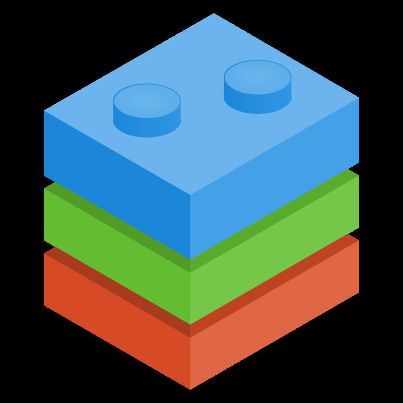 800x800 Image Of Blocks Clipart