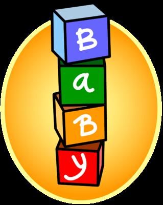 319x400 Baby Blocks Clipart