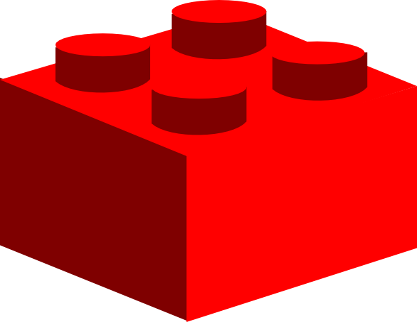 600x464 Red Lego Clip Art