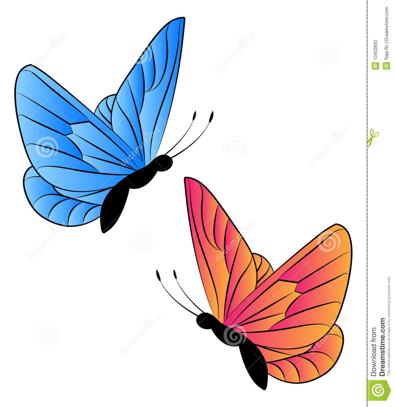 1260x1300 Two Butterflies Clipart