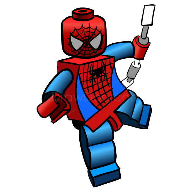 665x665 Lego Spiderman Clipart Image