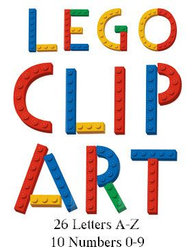 283x366 Digital Lego Clipart 26 Letters And 10 By Washiplannerstickers