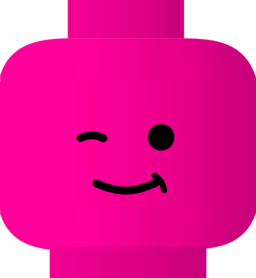 256x278 Lego Clipart Pink